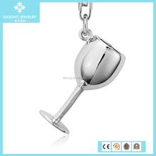 European Charm Bracelet Wine Glass Charm in Sterling Silver