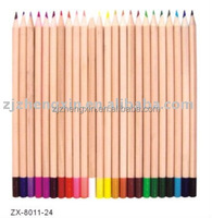 natural wooden coloured drawing pencil,color dipped basswood pencil
