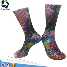 thigh high quality novelty wholesale custom sublimation sock