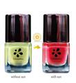 La luz del sol de cambio de color de esmalte de uñas, Que cambia de color de esmalte de uñas para limón amarillo