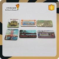 San Francisco Promotional Paper Board Tourist Souvenir Fridge Magnet