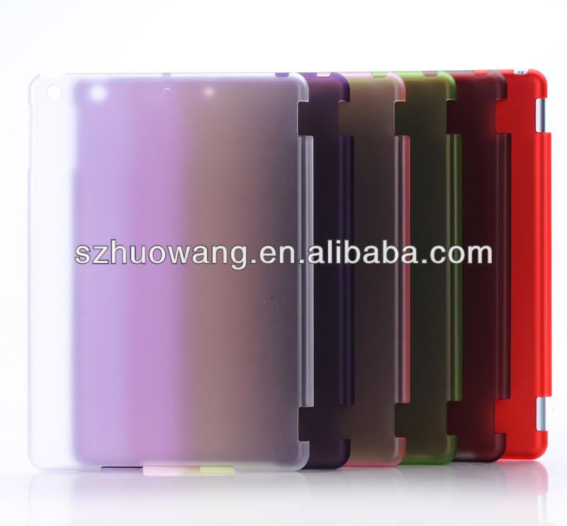 Caldo delle vendite di cristallo opaco aria caso per ipad, per ipad mini