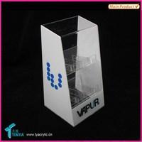 China Suppliers Custom Plastic Best Quality Acrylic E-cigarette Display Stand Hot Sale Acrylic E-Liquids Display Case