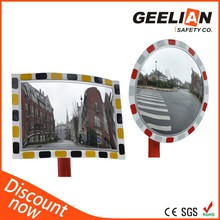 Outdoor traffic road concave convex mirror parking lot