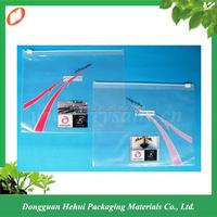 Manufacture slide zip lock plastic bag