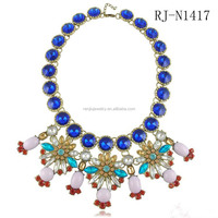 Most Luxury candy color flower necklace man made opal