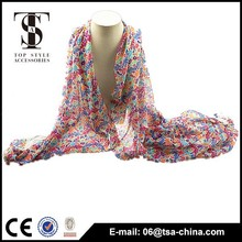 Fashion product printed flower multi scarf young girl