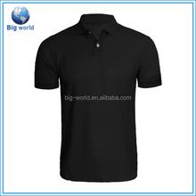 Fábrica OEM feitos sob encomenda novos homens faixa de algodão pique golf polo
