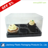 China dongguan 6 compartment take away clear plastic cupcake box container