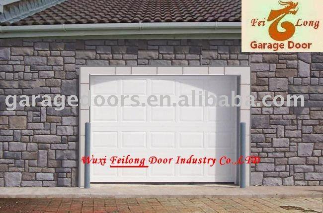 Woodgrain Raised Garage Door European Union Ce