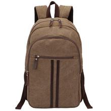 new men canvas backpack shoulder bag large capacity sports travel bag manufacturers