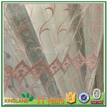 Unique modern design white sheer embroidery window curtain patterns