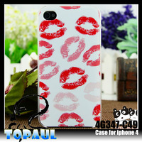Sexy lip 3D lovely plastic case for mobile phone