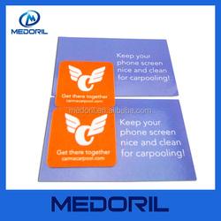 Adhesive microfiber sticker mobile phone screen cleaner