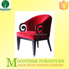 Fashionable Desgin MEC-1113 Top Quality Red Fabric Lounge Chair