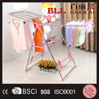 Pink color Butterfly shape Stainless steel Clothes dryer rack