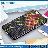 Cross stitch phone case, cross stitch case, for iphone 5 cross stitch silicone case