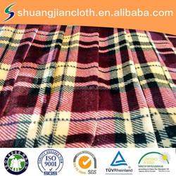96% polyester 4% spandex fabric/elastic korea velvet