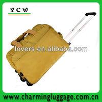 Single handle compass trolley luggage bag