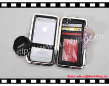 China New PU Mobile Phone Case With Metal Frame