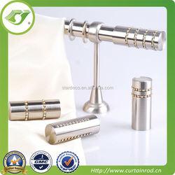 flexible iron smooth curtain rod / heavy duty curtain bracket curtain rod