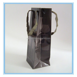 MECY LIFE wholesale high quality custom paper wine bottle gift bag