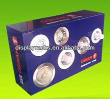 Popular small counter top led lamp stand, led product display