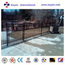 2015 Fashion fence:1.2x2m size 25mm pipe black pvc coated ornamental