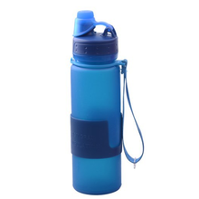 Promotional collapsible silicone foldable water bottle