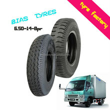 6.5-14-8PR good traction durable light truck bus bias tyres made in Qingdao