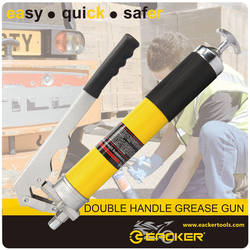 600CC High Quality Double Handle Hand Operated Engineering Grease Gun