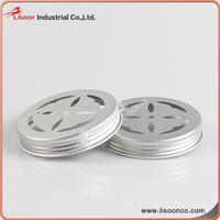 Cheap aluminum metal salt and chili pepper silver hole cap cover lid