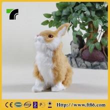 decoration for display fake fur rabbit skin make your own plush toy