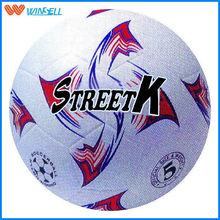 2015 brand logo inflatable wholesale rubber soccer ball shanghai