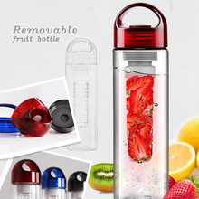 New product health portable 700ml sports water bottle plastic with fruit infusion