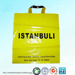 Factory direct supply die cut shopping plastic bags with handle and custom printing