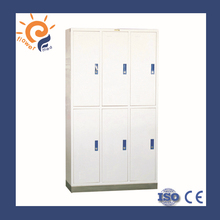 Made in China 6doors metal dressing cabinets