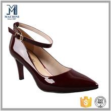 High heel patent leather upper ladies sexy heel pumps