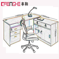 China Modern Office Furniture Wooden Office Table Design Model D-016