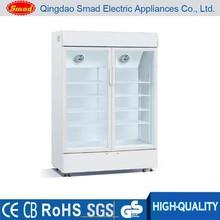 Direct cooling glass display showcase/drink refrigerator/beer cooler