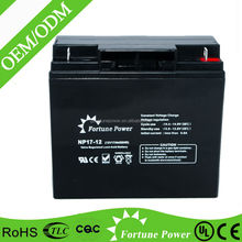 Factory direct sale sufficient capacity 17ah dry battery 12v for ups
