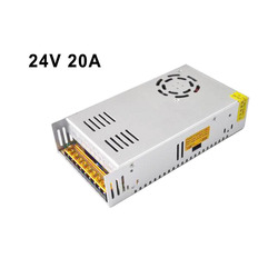LED Power Supply 24V 20A 480W, LED Driver, Switching Power Supply Lighting Transformer for Led Strip