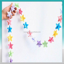 hot sale hanging party favor paper garland christmas decorations