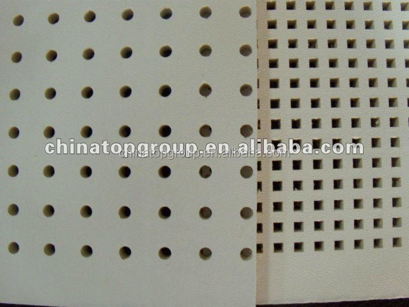 panneau acoustique perfor plaque de pl tre perfor plafond de gypse tuiles de plafond id du. Black Bedroom Furniture Sets. Home Design Ideas