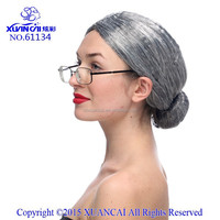 Wholesale the old hair wigs the roll play wig for silver white styles for long straight and wavy and curly top sell