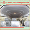 flat roof /semi high roof / high roof gasoline and diesel hiace van bus (skd/ckd available for local assembling)