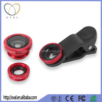 3 in 1 Universal Clip Camera Cell Mobile Phone Lens For iPhone 5 6 Plus Samsung S6 S5 Fisheye Lens Wide Angle Macro