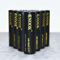 New design Enook rechargable battery 18650 3200mah 40A 3.7V for e-cigs flashlight 18650 rechargeable battery