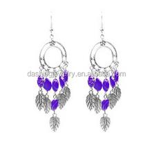 Beautiful Chandelier beads feather dreamcatcher earrings