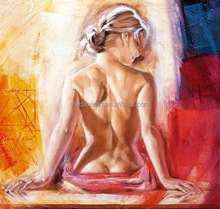 2015 hotsale design sexy nude woman oil painting